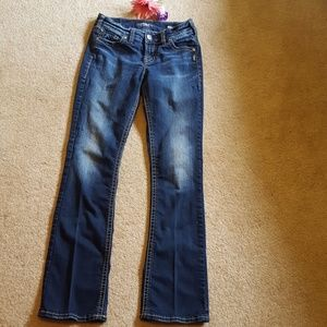 Girls Silver Suki stretch jeans size w26/31